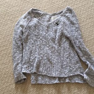 Gray Knit Abercrombie Sweater